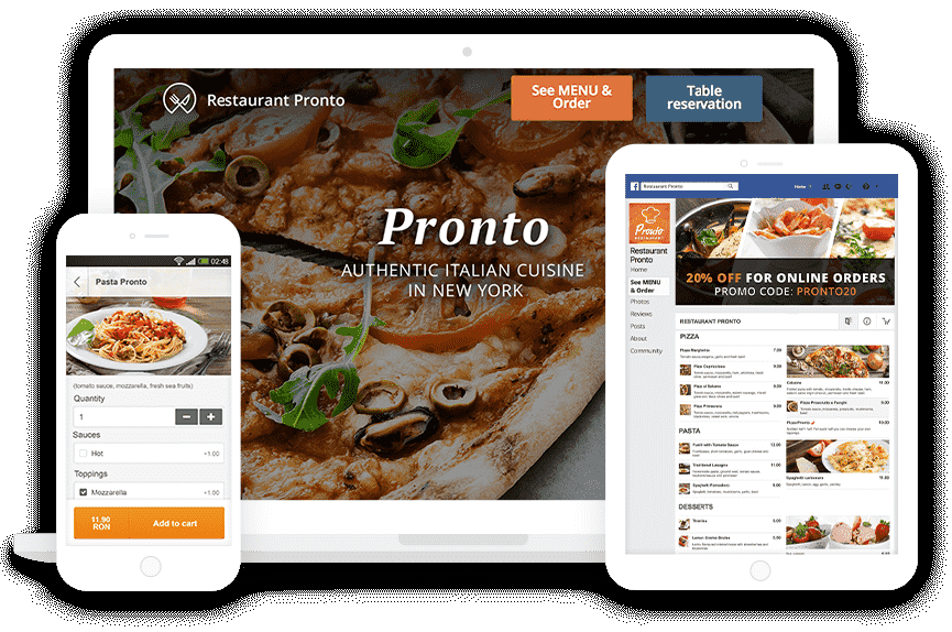 Restaurant online ordering system with no commission