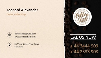 Business cards cafe