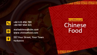 Business cards chinese restaurants and takeaways