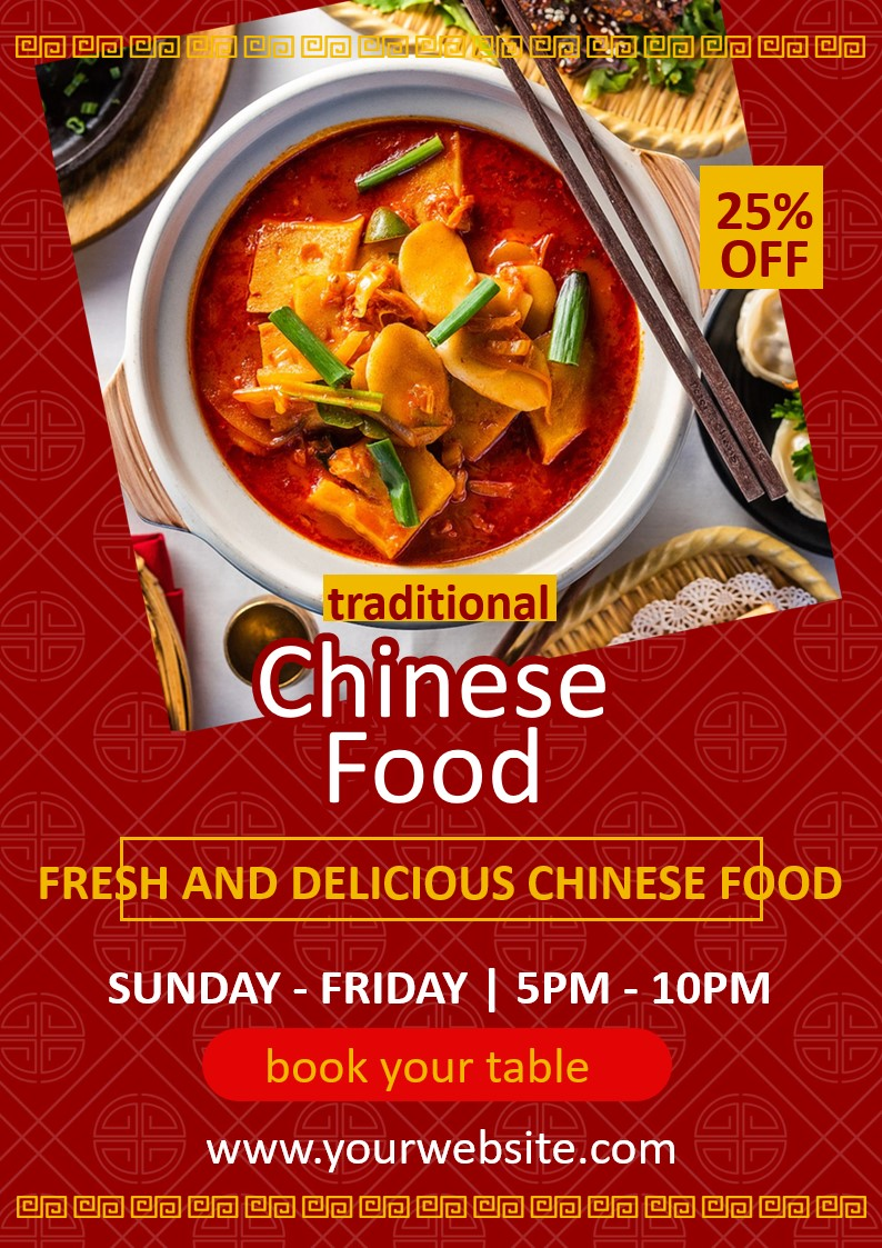 Flyers and leaflets for Chinese restaurants