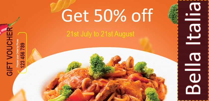 Vouchers and coupons for Italian restaurants