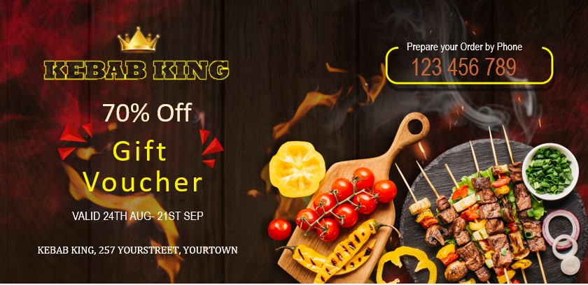 Vouchers and coupons for kebab restaurants and takeaways